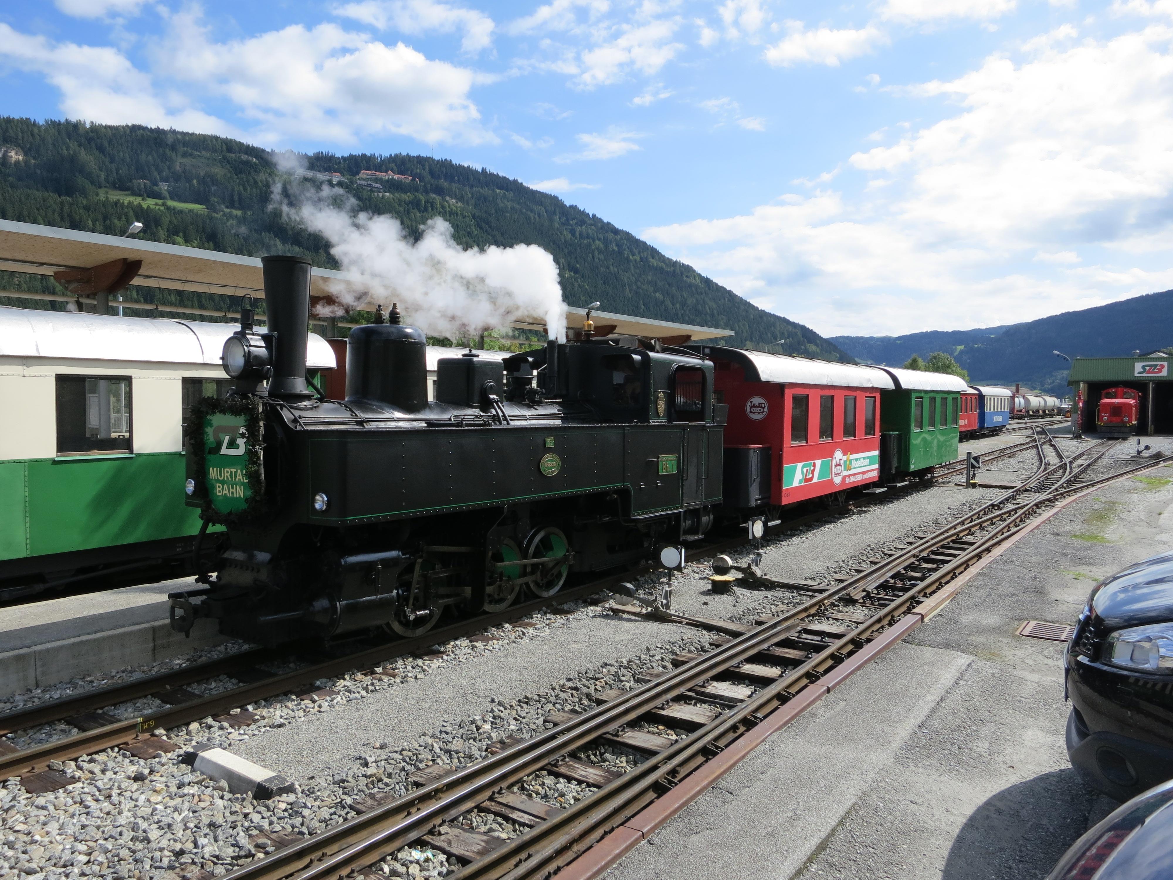 Dampfzugfahrt mit der Murtalbahn